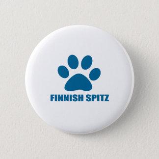 FINNISH SPITZ DOG DESIGNS 2 INCH ROUND BUTTON