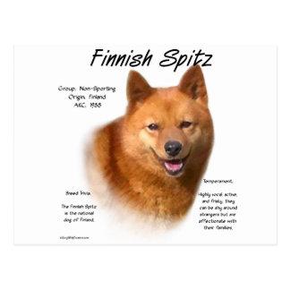 Finnish Spitz History Design Postcard