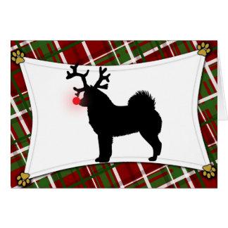 Finnish Spitz Reindeer Christmas Card