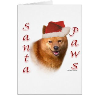 Finnish Spitz Santa Paws Card