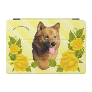 Finnish Spitz with Yellow Roses iPad Mini Cover