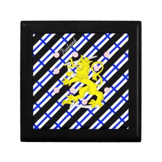 Finnish stripes flag gift box