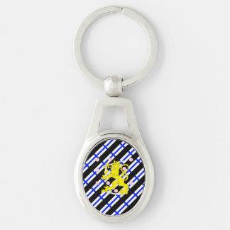Finnish stripes flag keychain