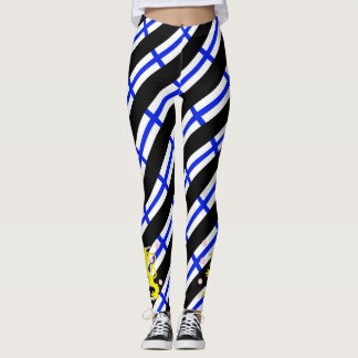 Finnish stripes flag leggings