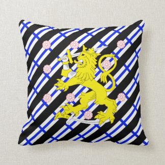 Finnish stripes flag throw pillow
