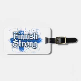 Finnish Strong (Finland) Luggage Tag
