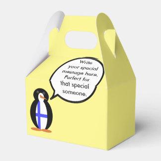 Finnish Talking Penguin Flag Party Favor Boxes