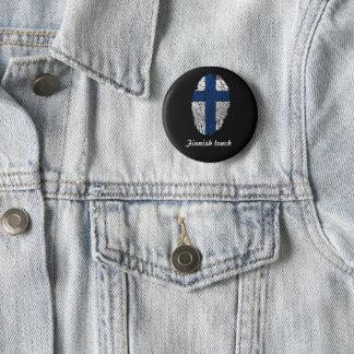 Finnish touch fingerprint flag 2 inch round button