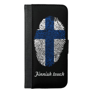 Finnish touch fingerprint flag iPhone 6/6s plus wallet case