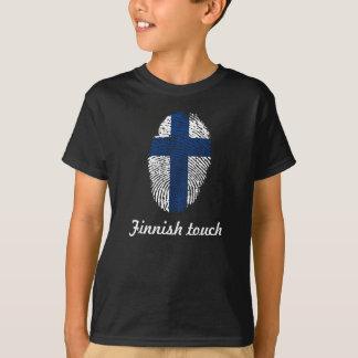 Finnish touch fingerprint flag T-Shirt