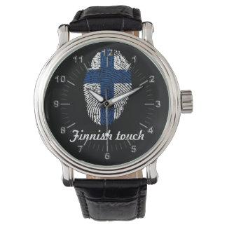 Finnish touch fingerprint flag watch