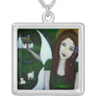 Fiona An Irish Earthangel Silver Plated Necklace