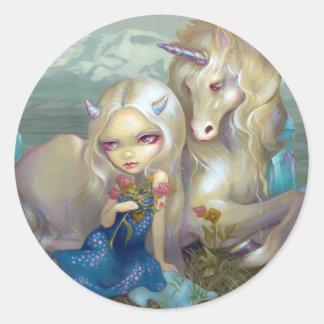 """Fiona and the Unicorn"" Sticker"