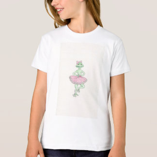 Fiona Frog Girls' American Apparel Organic T-Shirt