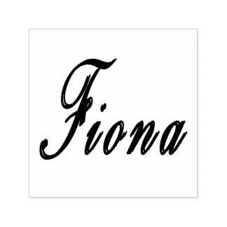 Fiona Name Logo, Self-inking Stamp
