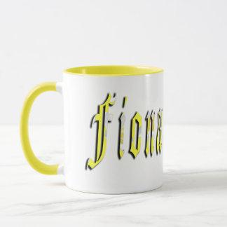 Fiona, Name, Logo, Yellow Combo Coffee Mug. Mug
