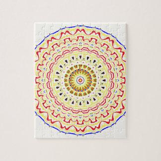 Fiona Pop Art Mandala Kaleidoscope Jigsaw Puzzle