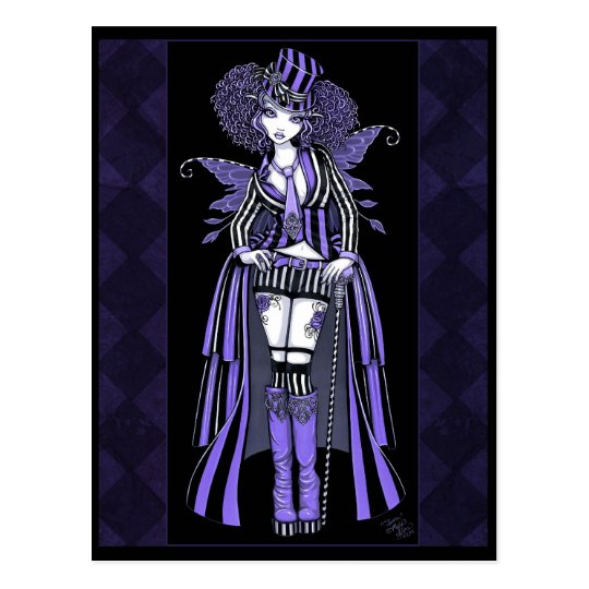 Fiona Purple Gothic Couture Fairy Postcard
