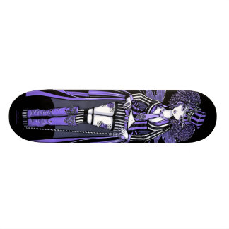 Fiona Purple Steampunk Couture Fairy Skate Deck