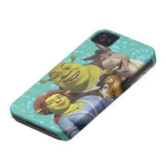 Fiona, Shrek, Puss In Boots, And Donkey Case-Mate iPhone 4 Case