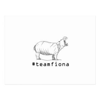 Fiona The Baby Hippo #teamfiona Hippopotamus Postcard