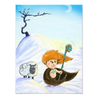 Fionn in the Snow Photo Print