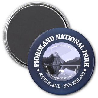 Fiordland National Park 3 Inch Round Magnet