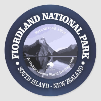 Fiordland National Park Classic Round Sticker