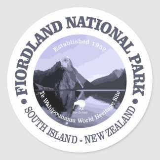 Fiordland National Park Classic Round Sticker