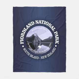 Fiordland National Park Fleece Blanket