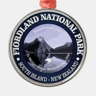 Fiordland National Park Metal Ornament