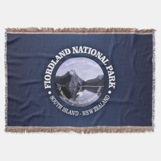 Fiordland National Park Throw Blanket