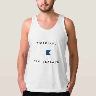 Fiordland New Zealand Alpha Dive Flag Tank Top