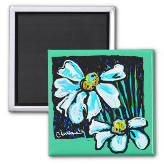 Fiore, Floral Art Products Square Magnet