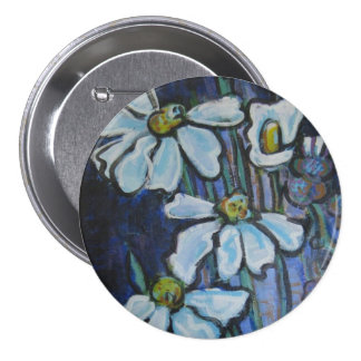 Fiore, painted daisies buttons