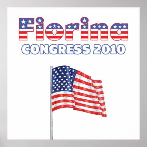 Fiorina Patriotic American Flag 2010 Elections Posters