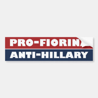 Fiorina The Anti-Hillary Bumper -.png Bumper Sticker