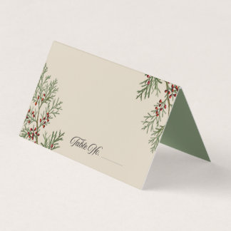 Fir Branches Holiday Place Cards