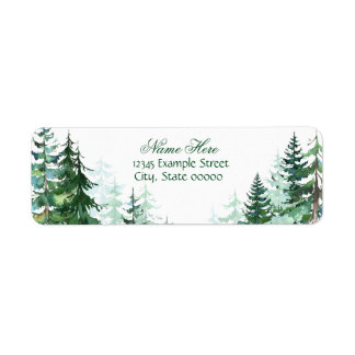 Fir Tree Return Address Return Address Label