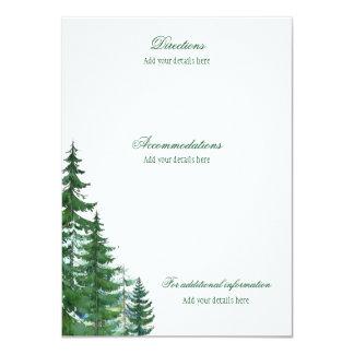 Fir Tree Wedding Details Information Cards