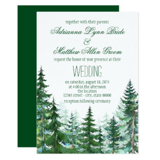Fir Tree Wedding Invitations