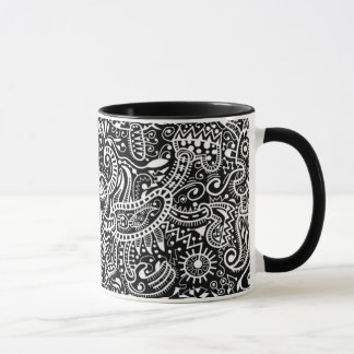 """Fira"" Mug, White on Black Mug"