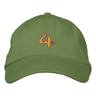 Fire #1 Number 4 Embroidered Hat