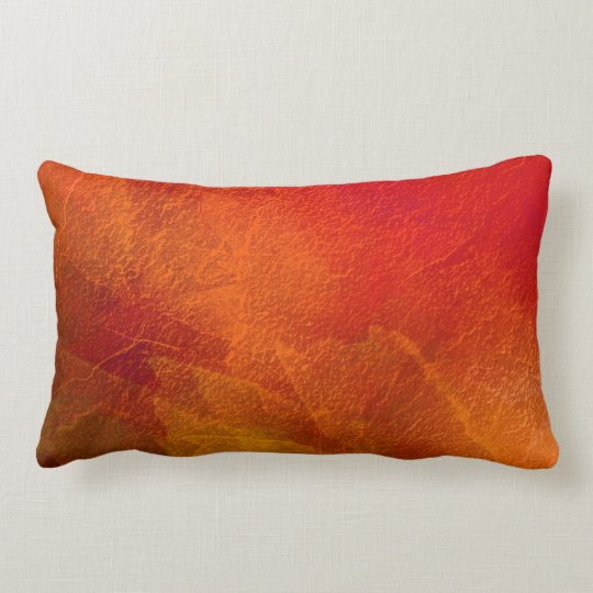 Fire - Abstract Art in Orange, Yellow, Red Lumbar Pillow