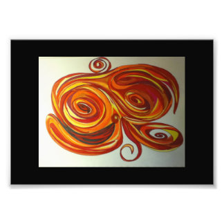 Fire Abstract Print Photo Print