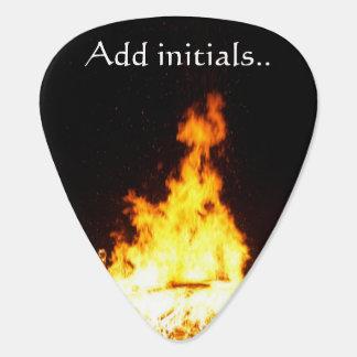 Fire Add Initials Standard Guitar Picks Guitar Pick