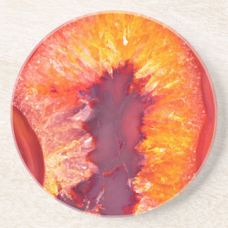Fire Agate Beverage Coasters