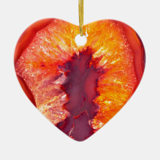 Fire Agate Ceramic Heart Ornament