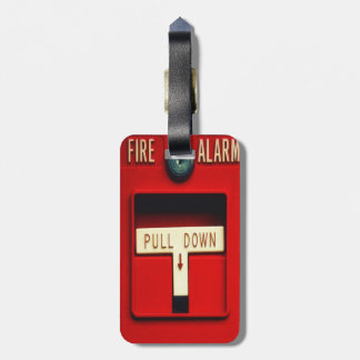 Fire alarm luggage tag