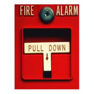 Fire alarm postcard